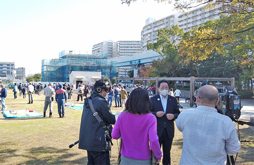 NHK取材風景